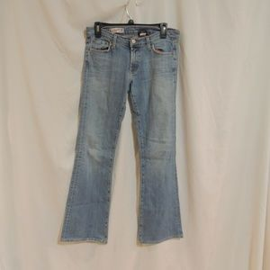 Red Engine Womens Distressed Flare Jeans Size 29